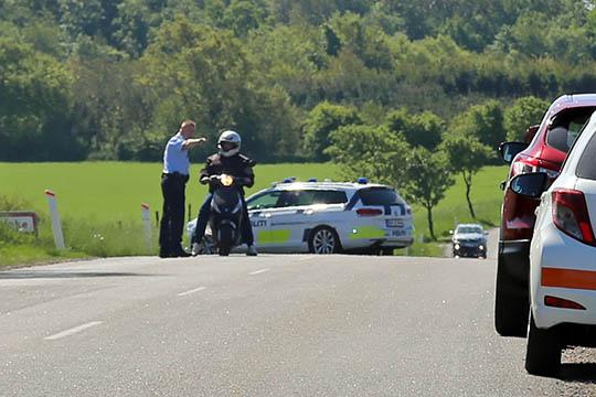 Trafikanter respekterede ikke politiafspærring
