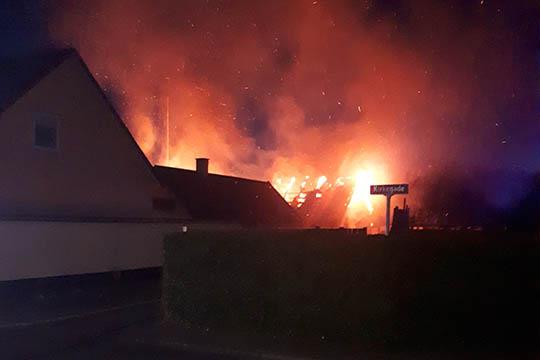 Voldsom brand i Hasle