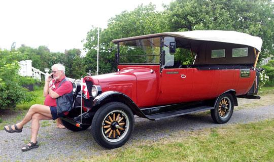 Bus fra 1927 vender hjem