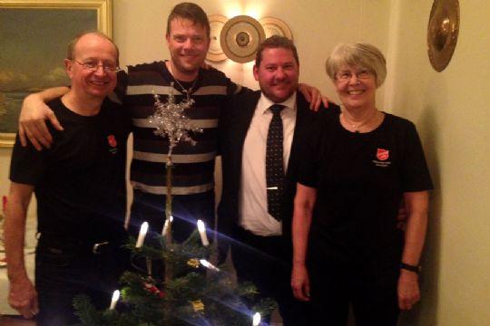 Glade givere af julehjælp til familier i Nexø