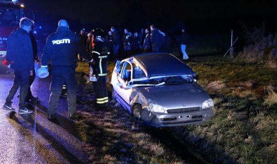 To biler i f�rdselsuheld ved Nex�