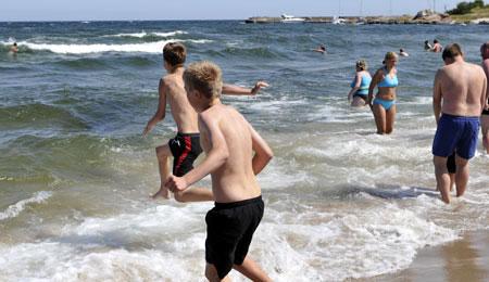Balkas badevand er m�lt til 21 grader