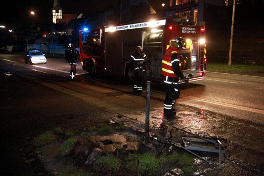 Årets første brand var i skraldestativ