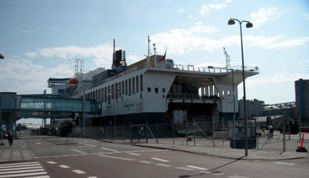 Blæst påvirker færgefarten