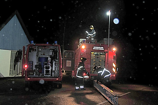 Skorstensbrand i Østermarie