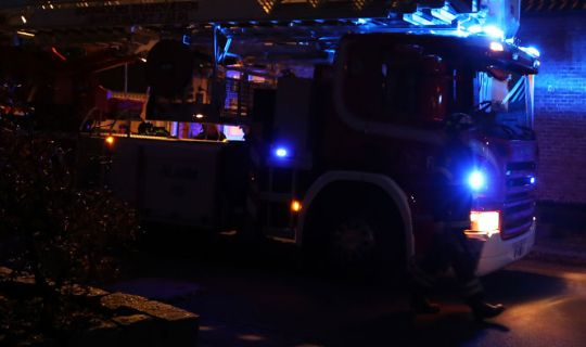 Skorstensbrand i Melsted