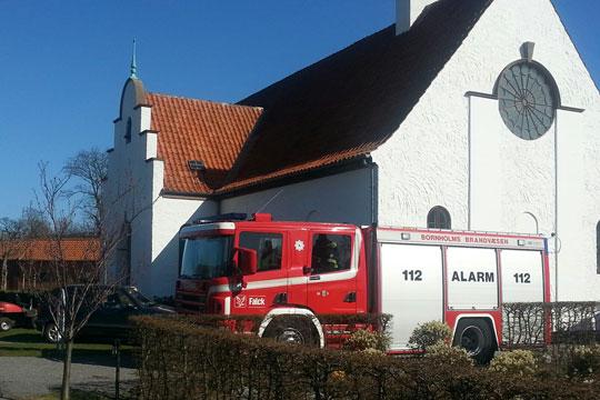Brandalarm fra Rønne Kapel