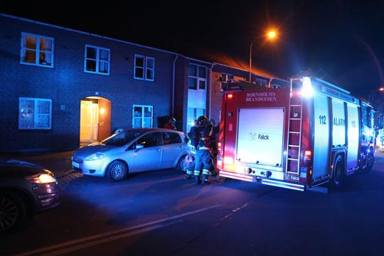 Brand i etageejendom i Rønne