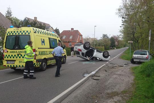 Voldsomt trafikuheld i Rønne