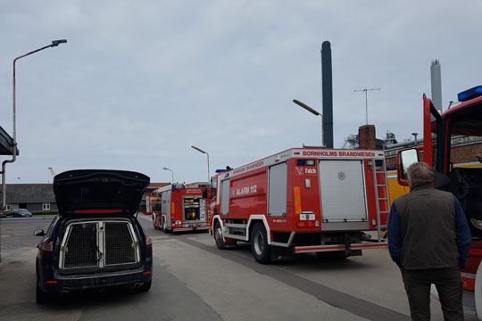 Brand på Skansevej i Rønne