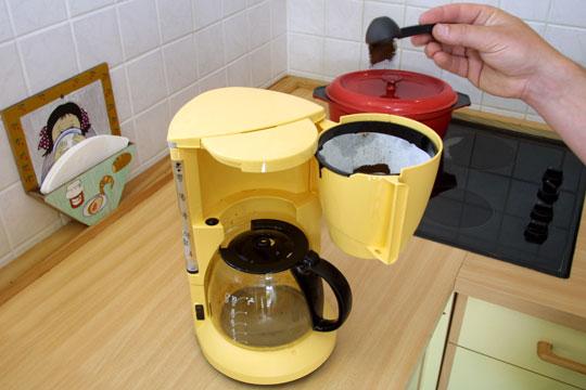 Sluk for kaffemaskinen
