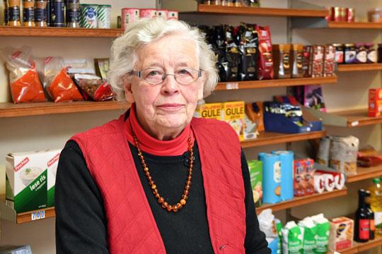 Købmand i Aakirkeby i 65 år