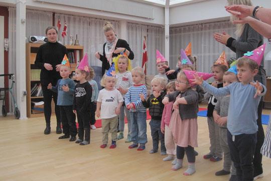 Børn henrykkede på Nexø Dagcenter