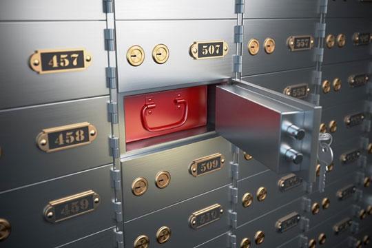 Gem uerstattelige værdier i banken