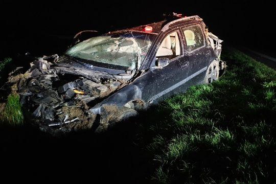 27-årig slap heldigt fra voldsomt trafikuheld