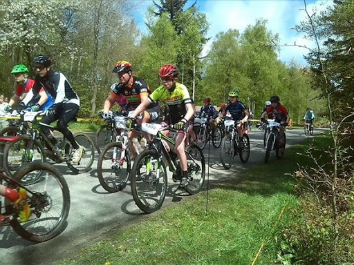 Populært cykelløb i Almindingen