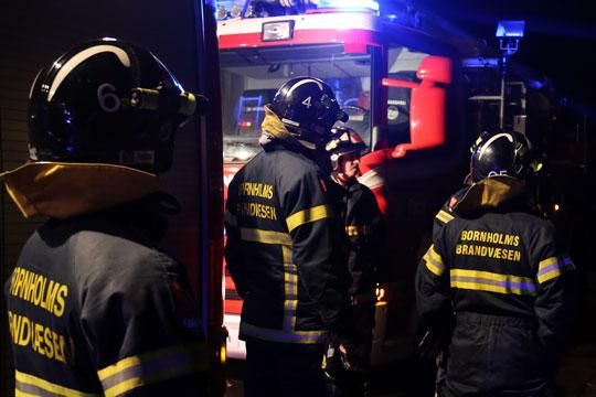 Brandøvelse på Bornholms Museum