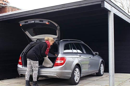 En carport er praktisk for både ejer og bil