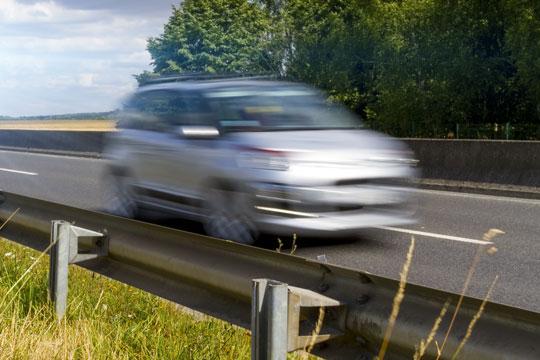 Fem bilister fik fartbøder