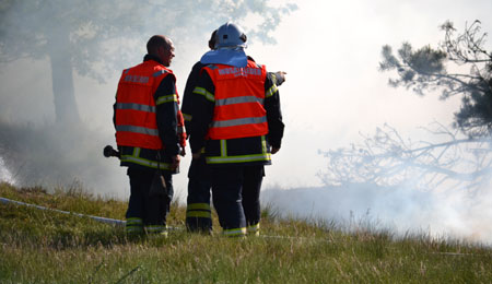Naturbrand ved Hammer Odde Fyr