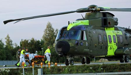 129 patienter overført med akuthelikopter