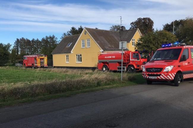 Udrykning til røgfyldt hus i Nexø