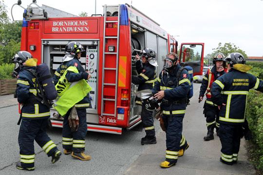 To på hospital efter brand i Rønne