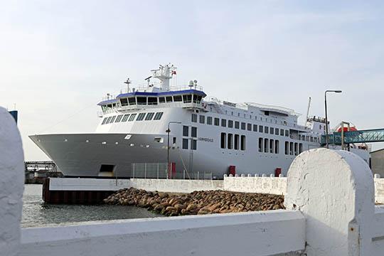 Rejsende med færge havde narko