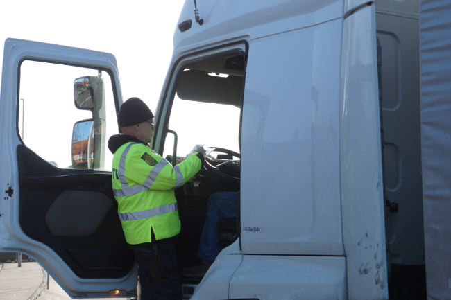 Chauffør på lastbil narkopåvirket