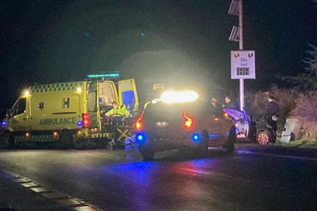 Kvindelig bilist kørte galt i Lobbæk