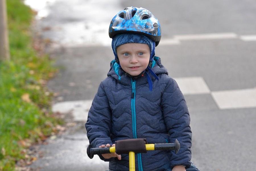 Cykelhjelm også når det er koldt