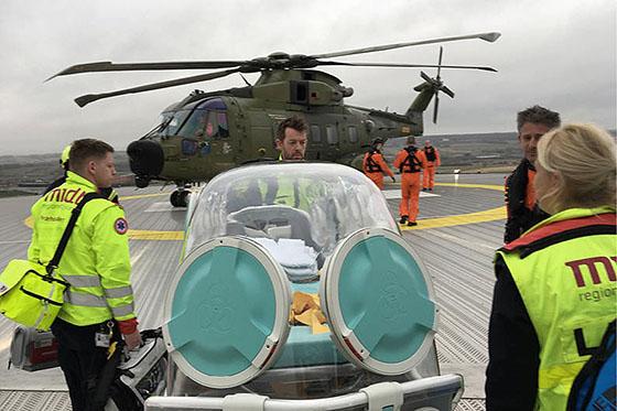 Patient med Covid-19 overført til Rigshospitalet