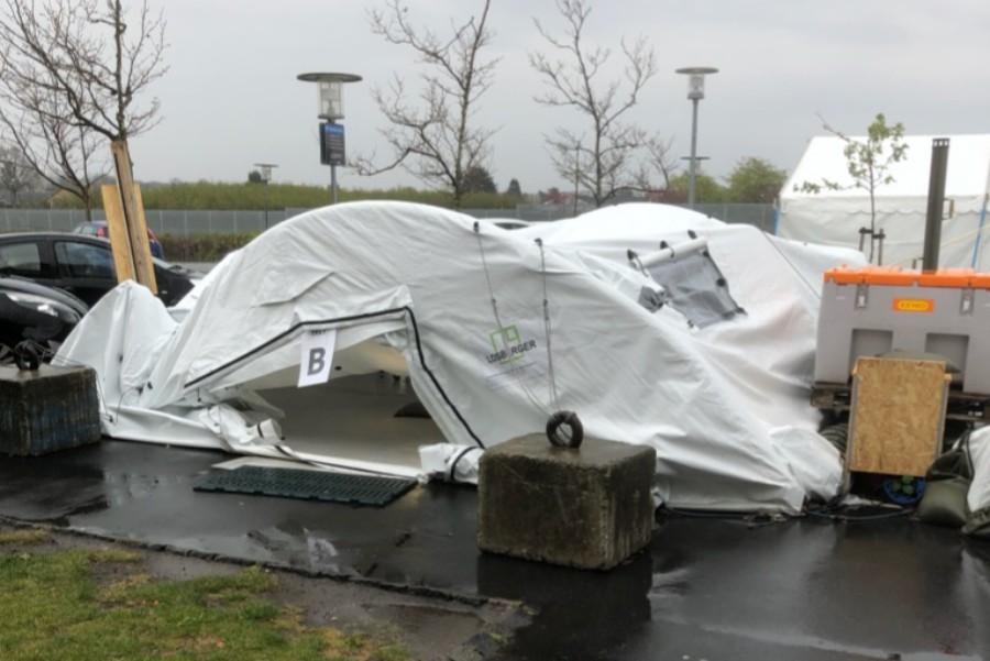 Utæthed årsag til teltkollaps