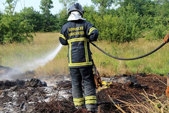 Mindre naturbrand i Rønne