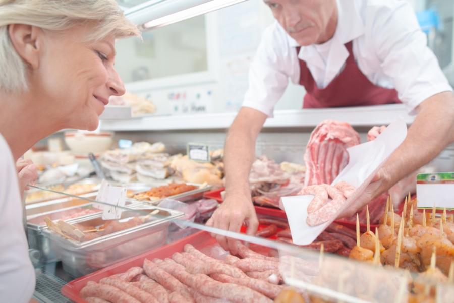 Eneejer i slagterbutik