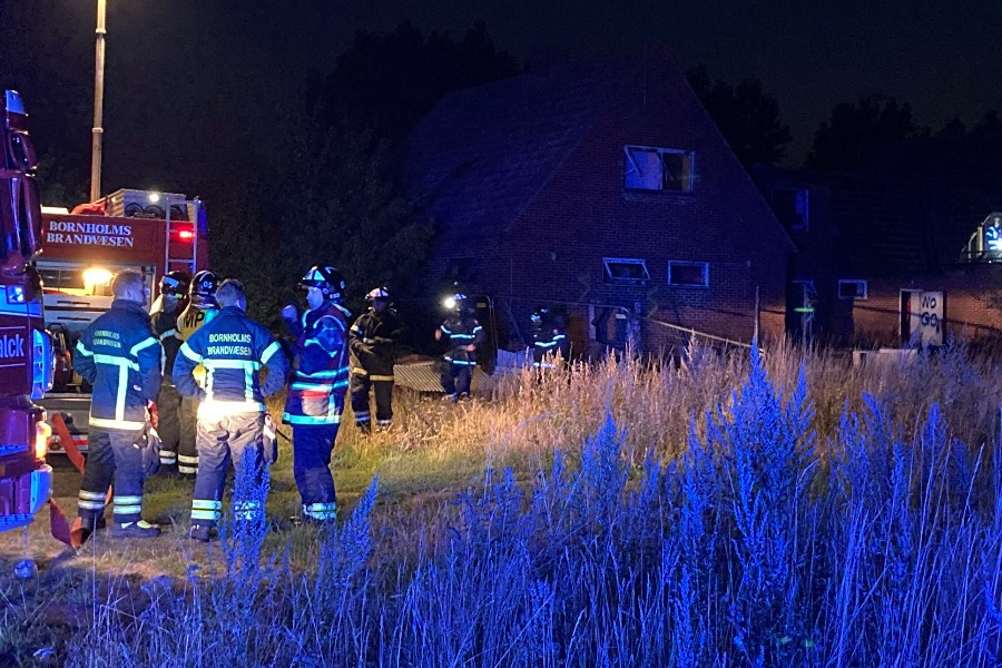 Brand i tidligere rockerborg i Hasle