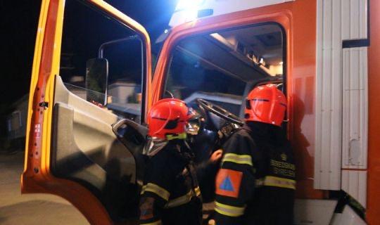 Brand i container på Tejn Havn