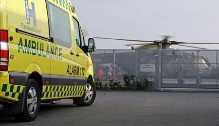 Patient fløjet til Rigshospitalet