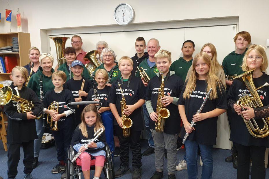 Børn giver koncert på Store Torv