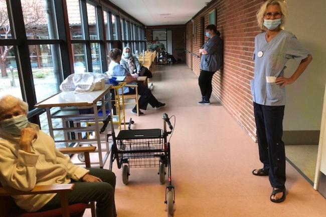 Plejecentrets beboere fuldt vaccineret