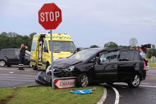 Biler fik skader for 16,4 mio. kr. i 2020