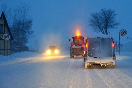 Snefygning lukker mindre veje