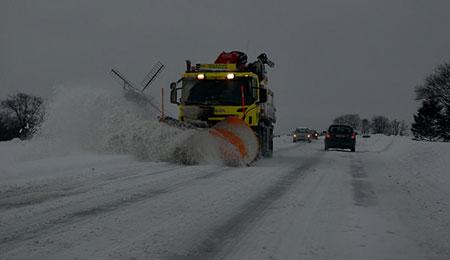 Pletvis sne- og isglatte veje