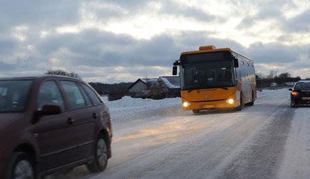 BAT: Ingen skolekørsel og først busser efter 07:00