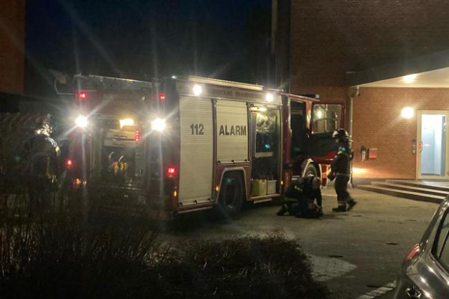 Brand i container i Rønne