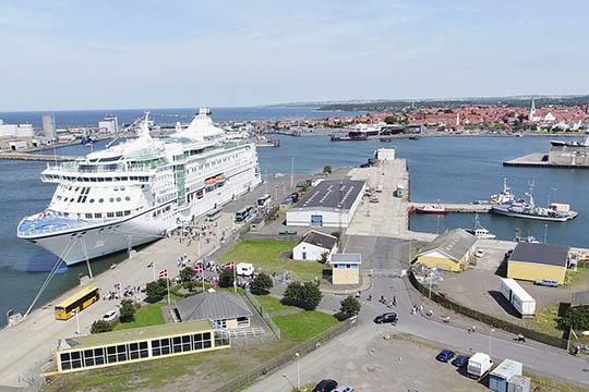 Færre krydstogtskibe i Rønne end forventet