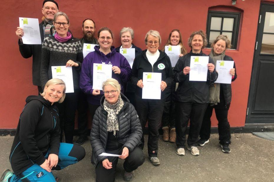10 nye instruktører i naturtræning