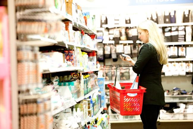 Bornholm har mange butikker med dagligvarer