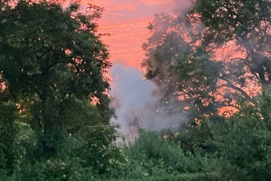 Brandvæsen måtte slukke bål