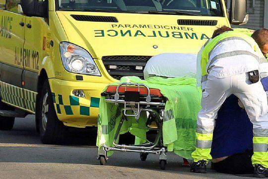 Svensk bilist påkørte knallert